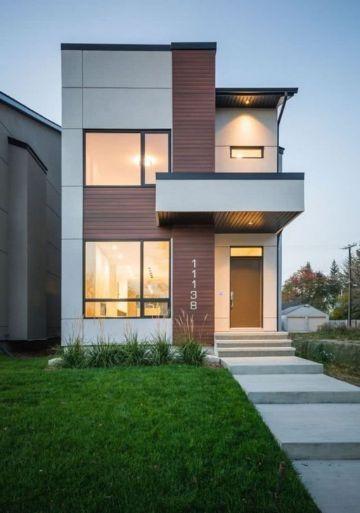 fachadas de casas pequeñas y bonitas en fraccionamientos