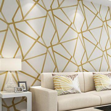 papel decorativo para pared geometrico moderno