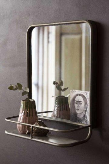 repisas para baño con espejo artisticos