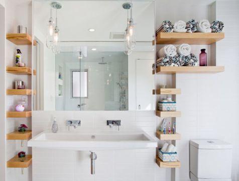 repisas para baño con espejo de diferentes tamaños