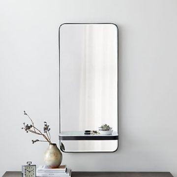 repisas para baño con espejo minimalistas