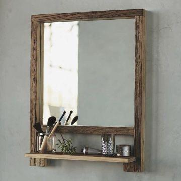 repisas para baño con espejo rusticas
