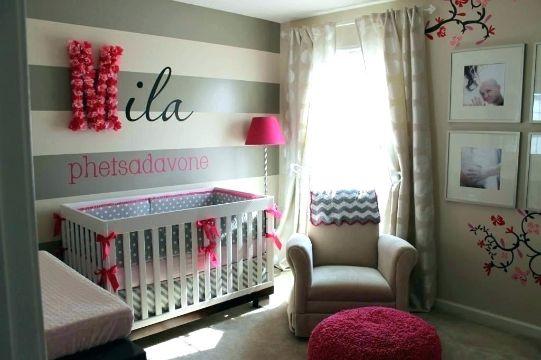 cuartos para niñas bebes paredes rayadas