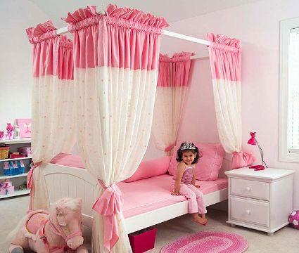 decoración para habitación de niñas de princesas