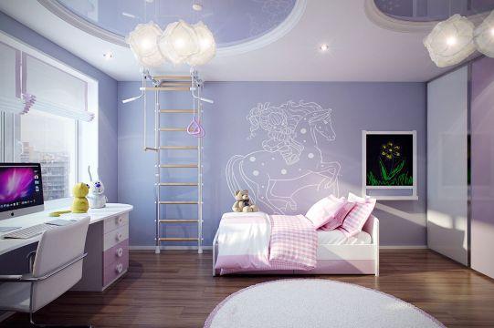 decoración para habitación de niñas ideas para pared