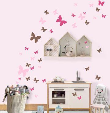 decoración para habitación de niñas viniles