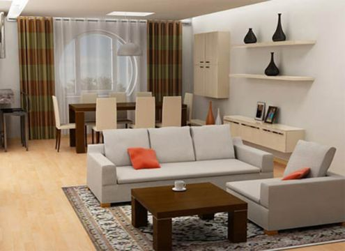 decoracion de comedor y salas pequeñas modernos