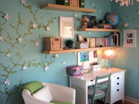decoracion de habitaciones para niñas muros divertidos