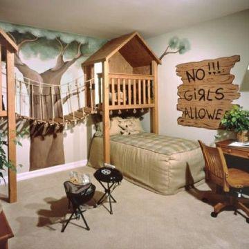 decoracion de habitaciones para niño casita del arbol