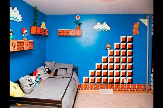 decoracion de habitaciones para niño mario bros