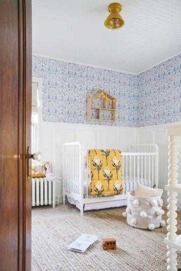 decorar cuartos de bebes papel tapiz