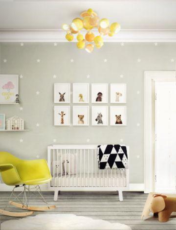 decorar cuartos de bebes texturas en paredes
