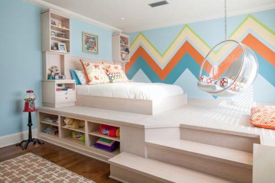 decorar un cuarto de niño con imagenes en muros