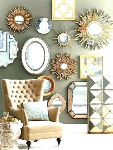espejos decorativos para la sala diferentes diseños