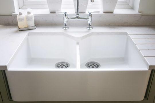 mueble de cocina con lavadero doble