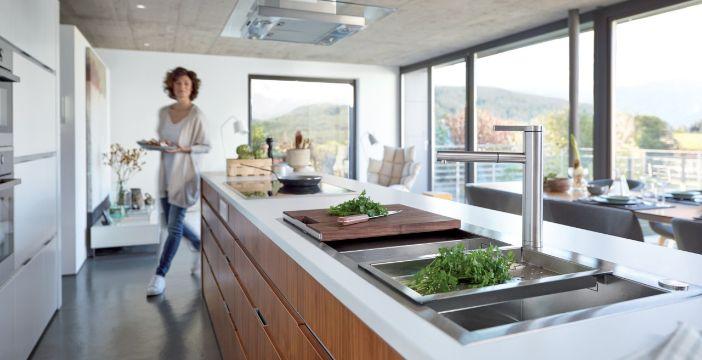 mueble de cocina con lavadero moderno