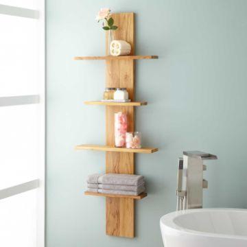 repisas de madera para el baño delgadas