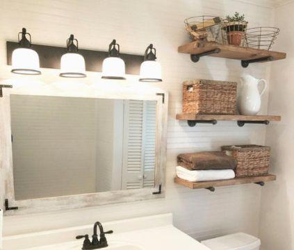 repisas de madera para el baño originales