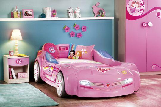 camas modernas para niñas con formas de vehiculos
