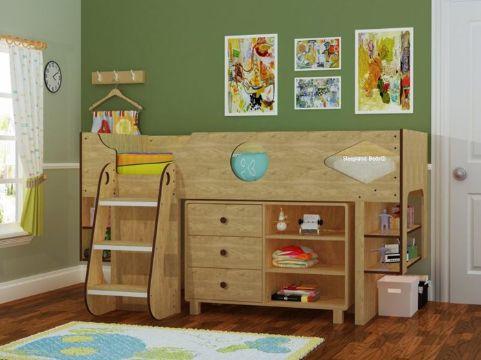 camas modernas para niños para aprovechar espacio