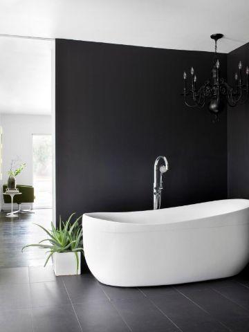 cuartos color negro baños