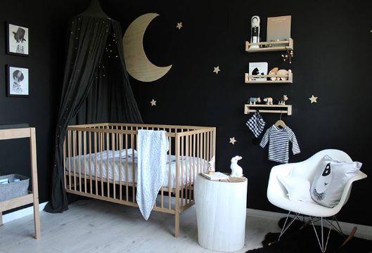 cuartos color negro cuartos de bebes