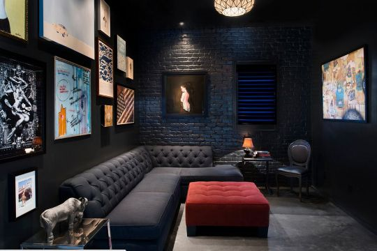 cuartos color negro salas