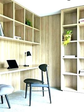 cuartos de estudio modernos y pequeños esquineros