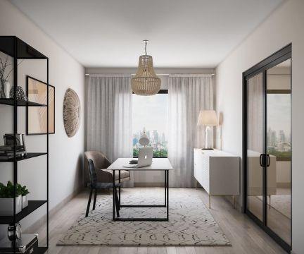 cuartos de estudio modernos y pequeños minimalistas
