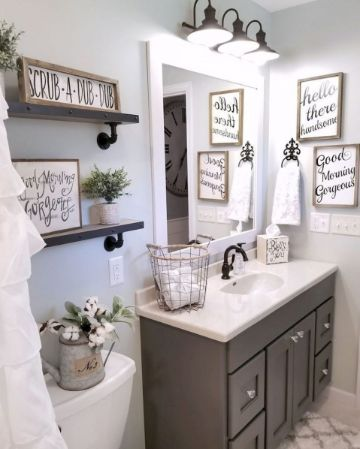 decoracion de baños sencillos y pequeños cuadros