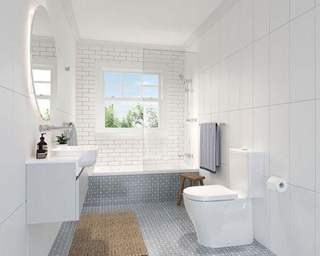 diseño baños pequeños blancos