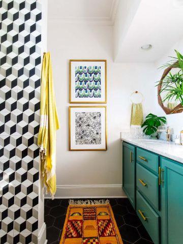 diseño baños pequeños cuadros y murales