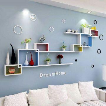 diseño de paredes para salas repisas
