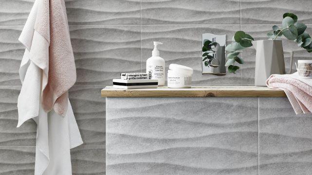 diseños de baños con ceramica de color