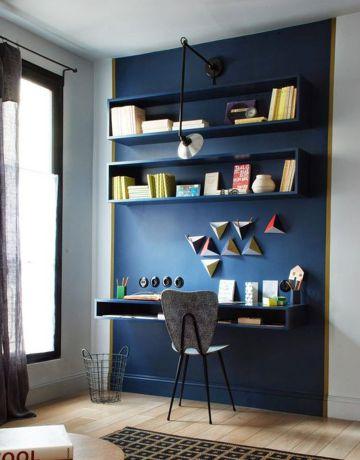 espacios home office con repisas