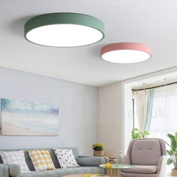 lamparas para techo de sala circulares de diferentes tamaños