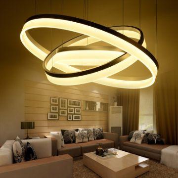lamparas para techo de sala grandes de led
