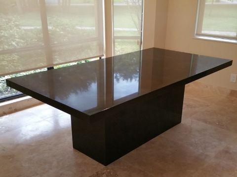 mesas de granito para cocina elegante