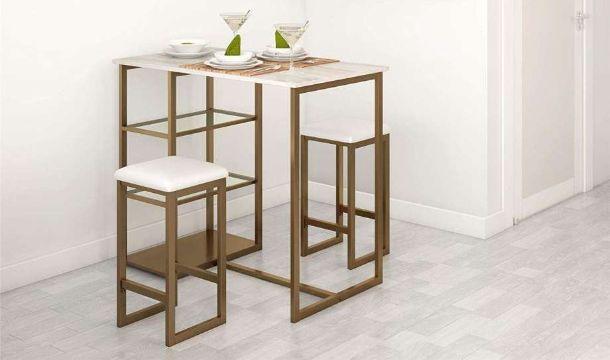 mesas para cocinas pequeñas con bancos