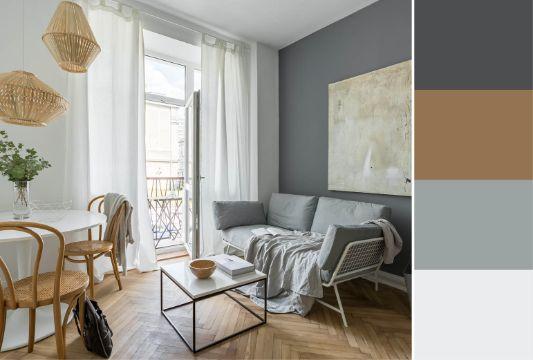 paleta de colores para paredes interiores para salas