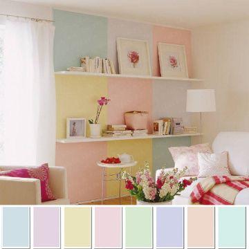 paleta de colores pasteles recamaras