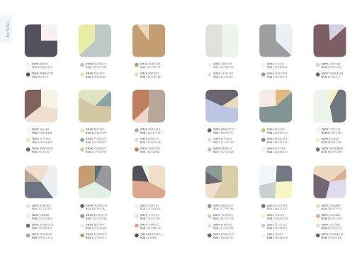 paletas de combinacion de colores modernas