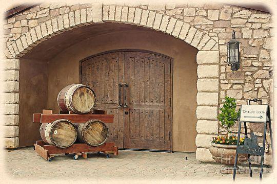 decoracion con barriles de madera exteriores