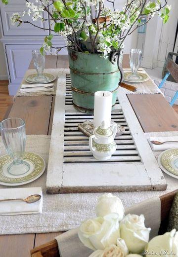 decoracion de mesas de comedor vintage