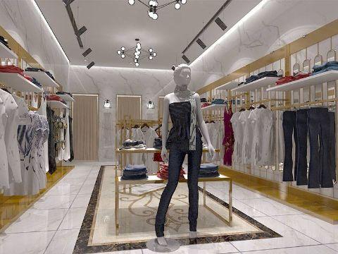 decoracion de tiendas de ropa con racks