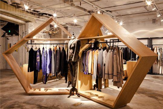 decoracion de tiendas de ropa estructuras