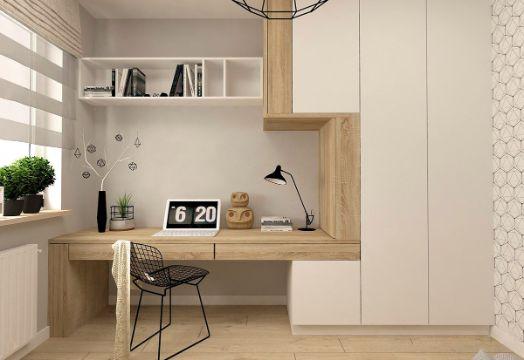 decoracion home office con madera