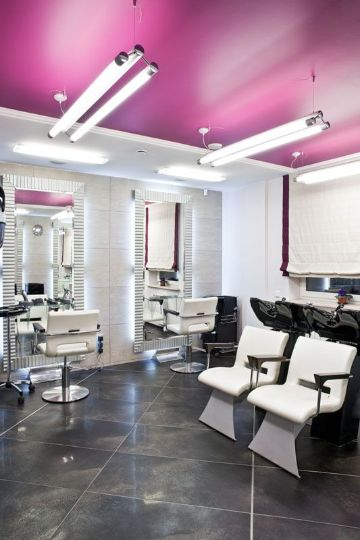 diseño de salones de belleza con correcta iluminacion