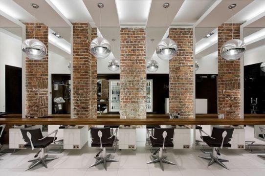 diseño de salones de belleza pilares decorativos