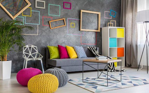 diseños para paredes de salas marcos